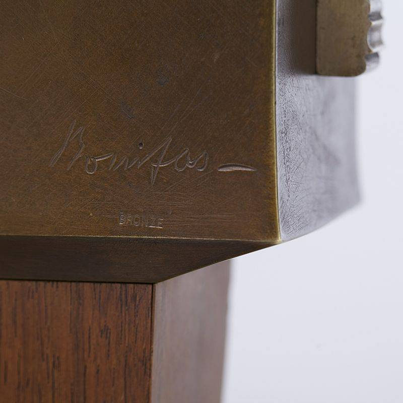 Paul Bonifas | Vase en bronze signature